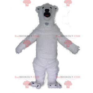 Very impressive and realistic white polar bear mascot -