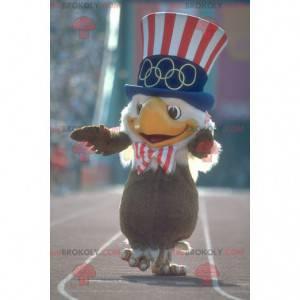 Maskottchen brauner und weißer Adler mit einem republikanischen
