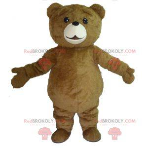 Duży uroczy i pulchny niedźwiedź brunatny maskotka -