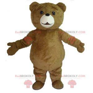 Velký roztomilý a baculatý medvěd hnědý maskot - Redbrokoly.com