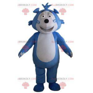 Modrý a šedý ježek medvídek maskot - Redbrokoly.com
