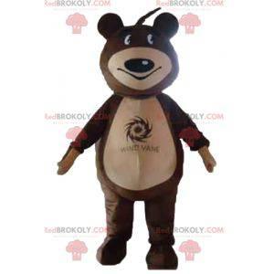 Braunes und beige Teddybärmaskottchen - Redbrokoly.com