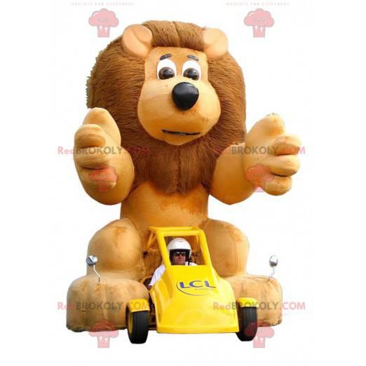 Big lion mascot with a big mane - Redbrokoly.com