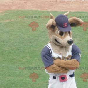 Maskot srny hnědé jeleny ve sportovním oblečení - Redbrokoly.com