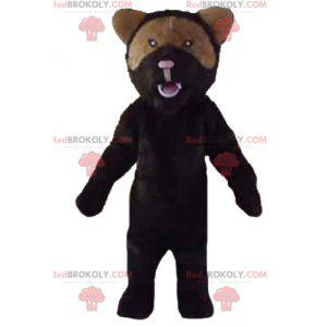 Svart og brun bjørn maskot brølende luft - Redbrokoly.com