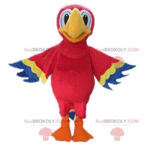 Giant red yellow and blue parrot mascot - Redbrokoly.com