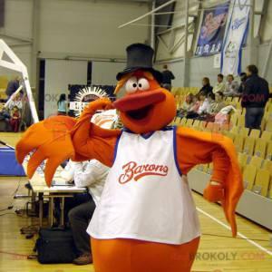 Oranžový pták sněhulák maskot - Redbrokoly.com