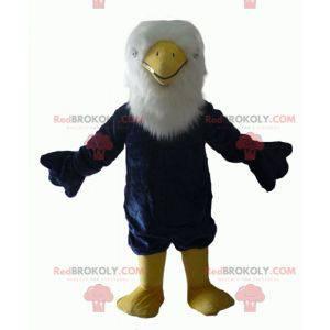 Alle haarigen blau weiß und gelb Adler Maskottchen -