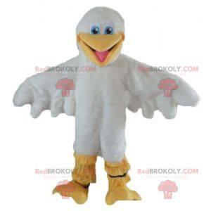 Weißes und gelbes Entenmöwenmaskottchen - Redbrokoly.com