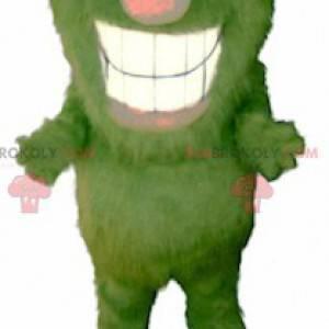 Alles haarige grün und orange Monster Maskottchen -
