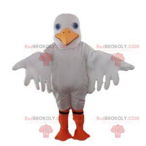 White seagull mascot white and yellow duck gull - Redbrokoly.com