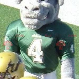 Gray buffalo bull mascot in sportswear - Redbrokoly.com