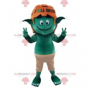 Zelený skřítek elf maskot - Redbrokoly.com