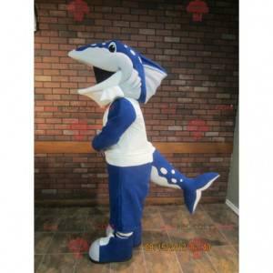 Blå orca haj delfin maskot - Redbrokoly.com