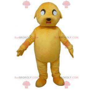 Giant and impressive yellow dog mascot - Redbrokoly.com