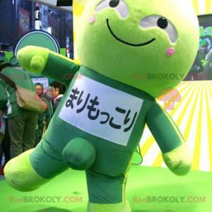 Japansk manga grønn karakter maskot - Redbrokoly.com