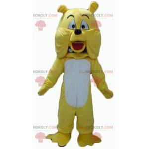Giant yellow and white dog bulldog mascot - Redbrokoly.com