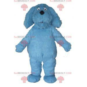 Fantastisches haariges blaues Hundemaskottchen - Redbrokoly.com