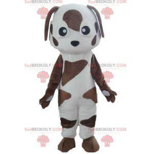 Bílé a hnědé skvrnité psí maskot - Redbrokoly.com