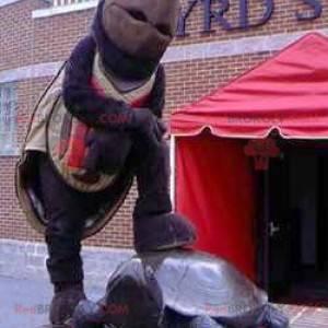 Maskotka gigantyczny brązowy i czarny żółw - Redbrokoly.com