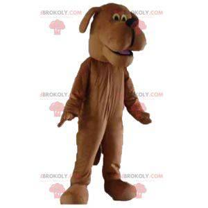 Brown dog mascot looks nice - Redbrokoly.com