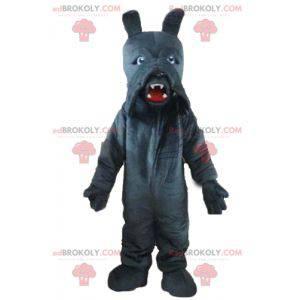 Velmi realistický maskot šedého basetového psa - Redbrokoly.com