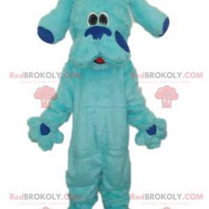 Obří a roztomilý chlupatý modrý pes maskot - Redbrokoly.com
