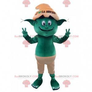 Zelený skřítek trol maskot - Redbrokoly.com