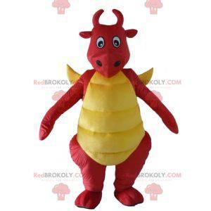 Red and yellow dragon dinosaur mascot - Redbrokoly.com