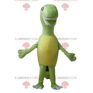 Tyrex mascot giant green and yellow dinosaur - Redbrokoly.com