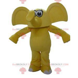 Maskot žlutý slon s velkýma ušima - Redbrokoly.com