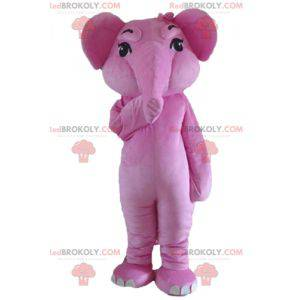 Giant and fully customizable pink elephant mascot -