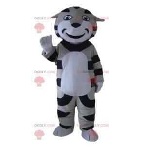 Mascota de tigre gato atigrado blanco y negro gris -