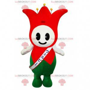 Red and green jester mascot of the tulip king - Redbrokoly.com