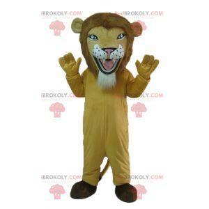 Maskot béžový tygr lva vypadá divoce - Redbrokoly.com
