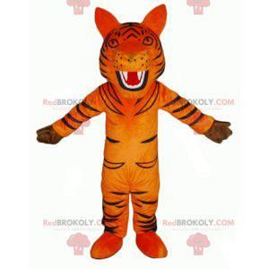 Řvoucí maskot oranžového a černého tygra - Redbrokoly.com