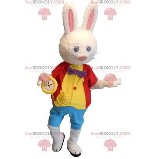 Alicja w krainie czarów biały królik maskotka - Redbrokoly.com