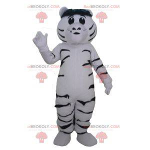 Giant and touching white and black tiger mascot - Redbrokoly.com