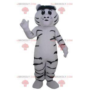 Gigantyczna i wzruszająca biało-czarna maskotka tygrysa -