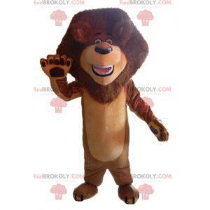 Brun løve maskot med en vakker manke - Redbrokoly.com