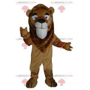 Riesiges und sehr erfolgreiches braunes Löwenmaskottchen -