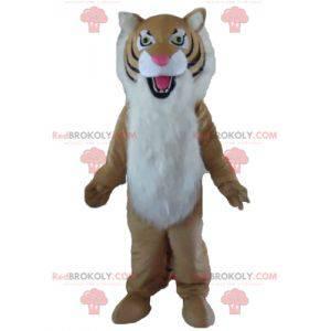 Hairy black and white tiger mascot - Redbrokoly.com