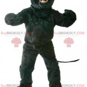 Maskot černý panter se zelenýma očima - Redbrokoly.com