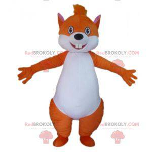 Velký maskot veverky oranžové a bílé - Redbrokoly.com