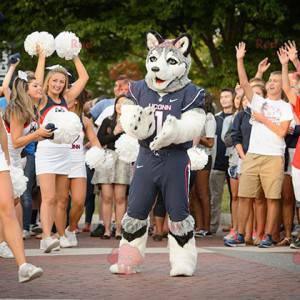 Vlčí pes husky maskot ve sportovním oblečení - Redbrokoly.com