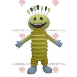 Velmi usměvavý maskot žlutého sněhuláka - Redbrokoly.com