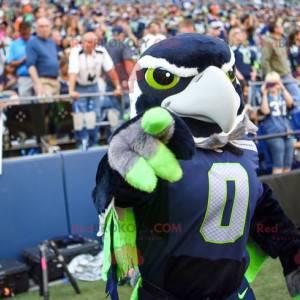Adler Vogel Maskottchen blau weiß grün und grau - Redbrokoly.com