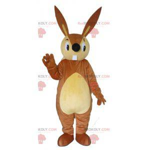 Velký maskot hnědého a béžového králíka - Redbrokoly.com