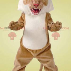 Gepard hnědý a bílý tygr maskot - Redbrokoly.com