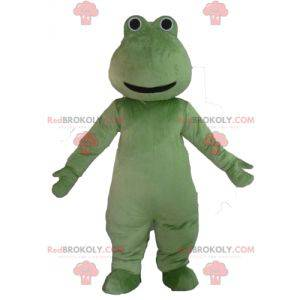 Veldig smilende grønn froskmaskott - Redbrokoly.com
